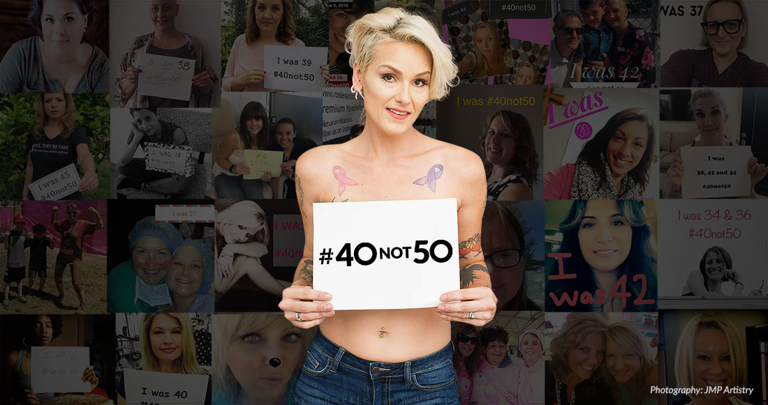 #40not50 - Women standing for mammograms at age 40 not 50